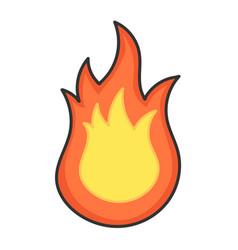 Hot fireball flame icon design vector