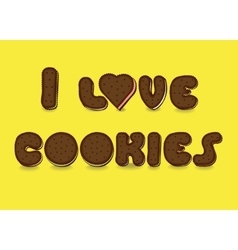 I love cookies Sweet font vector