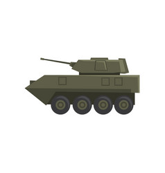 infantry fighting vehicle army machine heavy vector image