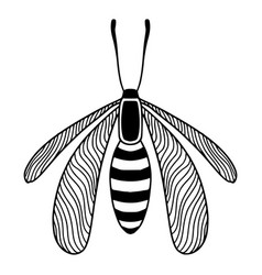 Insect tattoo art printable t-shirt design vector