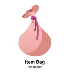Item bag flat icon vector