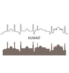 kuwait vector image
