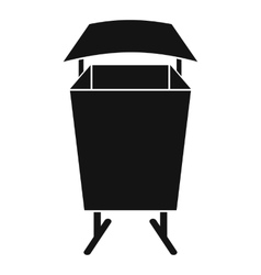 Litter waste bin icon simple style vector