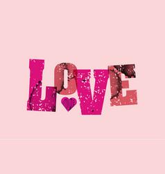 Love concept stamped word art vector