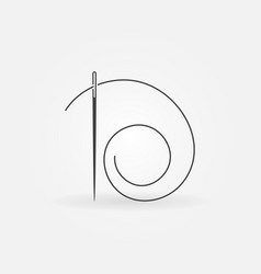 Needle and thread icon or element vector