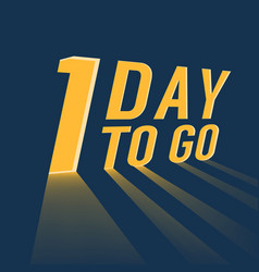One day to go with long lighting vector