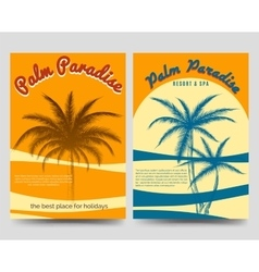 Palm Paradise flyers set vector image