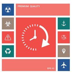 Passage of time icon elements for your design vector