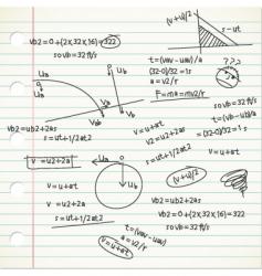 Physic formula vector