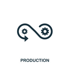 Production icon creative element design from vector