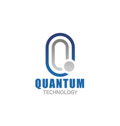 q letter icon for quantum technology vector image