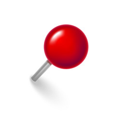 realistic detailed 3d red push pin vector image
