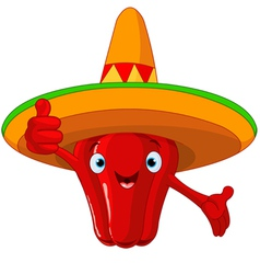 Red hot chili pepper character vector