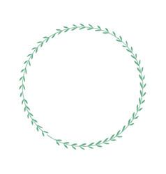 Rustic wreath image vector