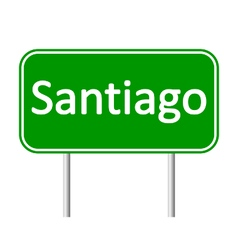 Santiago road sign vector