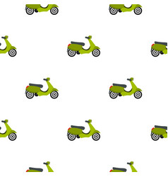 Scooter pattern flat vector
