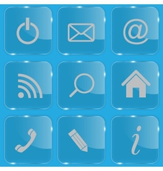 Set of shiny glass web buttons vector image