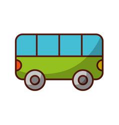 Shadow bus cartoon vector