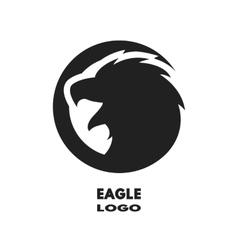 Silhouette eagle monochrome logo vector