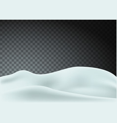 Snowy landscape isolated on transparent vector