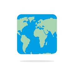 Square world map Atlas of unusual shape Square vector image