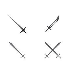sword logo vector image