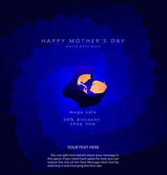 template design discount banner for happy mothers vector image