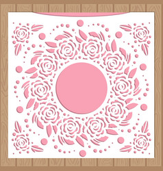 template for laser cutting envelope for wedding vector image