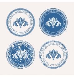 Vintage retro set Grunge stamp collection vector image