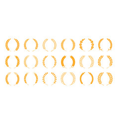 wheat and rye ears wreath spikes and stalks vector image