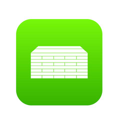 wooden pallets icon digital green vector image