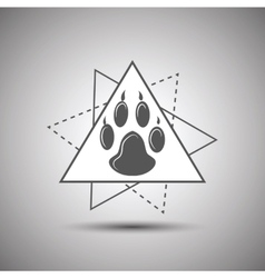 Animal footprint logo isolated on white background vector