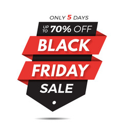 black friday label price tag sale banner badge vector image vector image