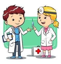Doctor Kids vector image
