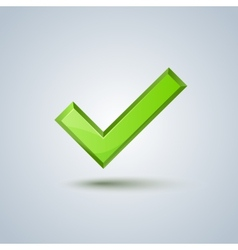 Isolated green check mark sign image vector image