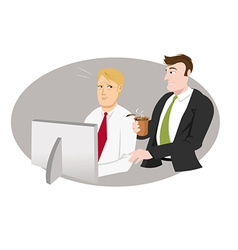 office guy bothering vector image vector image