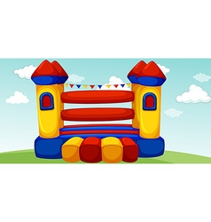 Playhouse in the field vector image