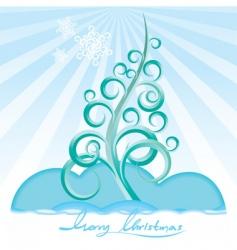 stylize Christmas tree vector image