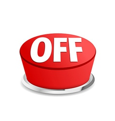 Turn off button sign template red vector image vector image