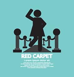Woman Walking On Red Carpet Symbol vector image