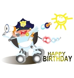 Birthday greetings for a police officer vector image