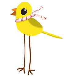 cartoon yellow bird vector image vector image