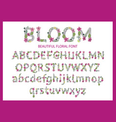 colorful flower font vector image