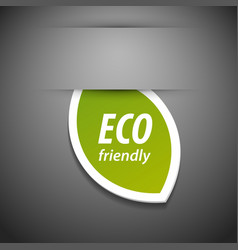 Eco friendly tag vector image vector image