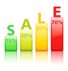 Sale Graph vector image vector image