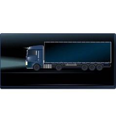 blue truck on the night road vector image vector image