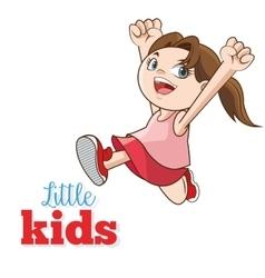 Cartoon of happy little Kids vector image