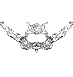 cupid heraldry vector image vector image
