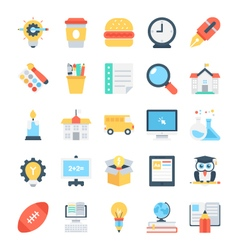 Education colored icons 8 vector