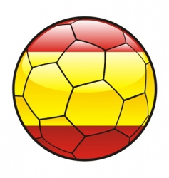 flag of Spain on soccer ball vector image vector image